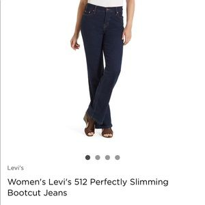 Levi's perfectly slimming boot cut 512 jeans Sz 12